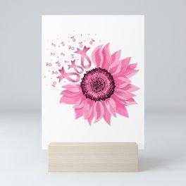 Pink Ribbon Flower Mini Art Print