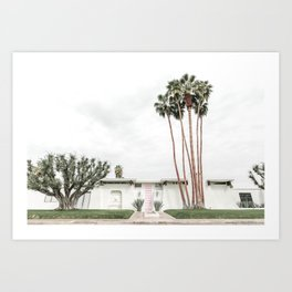 That Pink Door House Palm Springs,California Art Print