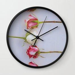 Roses II Wall Clock