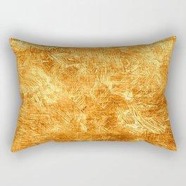 Butterscotch Oil Painting Color Accent Rectangular Pillow