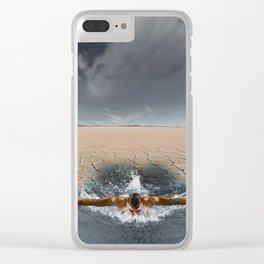 Swimming in the desert Clear iPhone Case