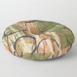 Abstract circles Floor Pillow