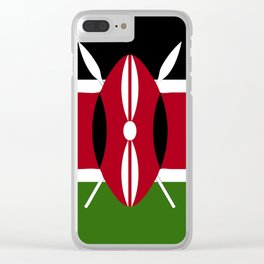 Kenya flag emblem Clear iPhone Case