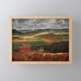 Classical Masterpiece 'Wisconsin Landscape II' by John Steuart Curry Framed Mini Art Print