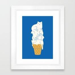 Cats Ice Cream Framed Art Print