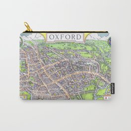 OXFORD university map ENGLAND dorm decor Carry-All Pouch