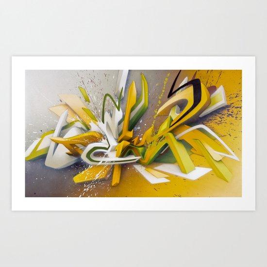 Auf der Lauer - Explosion Art Print