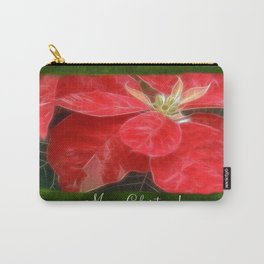 Mottled Red Poinsettia 1 Ephemeral Merry Christmas P1F1 Carry-All Pouch