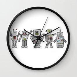 Retro Robots Wall Clock