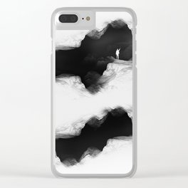 Hello from the The White World Clear iPhone Case