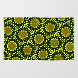 Cute ethnic floral pattern Rug