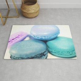 Macarons / macaroons Teal Blue Lavender Rug