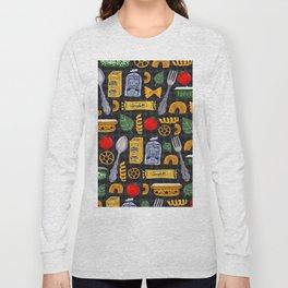 Vintage macaroni pattern Long Sleeve T-shirt