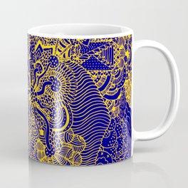 Tangled Blue and Yellow Coffee Mug