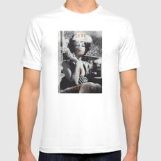 Come For Me, Darling White Mens Fitted Tee MEDIUM