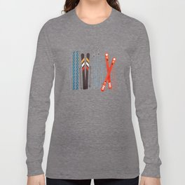 Retro Ski Illustration Long Sleeve T-shirt