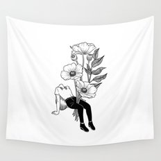 Let me bloom Wall Tapestry