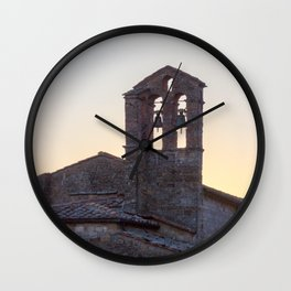 Bell Tower Tuscany Wall Clock