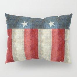 Texas state flag, Vintage banner version Pillow Sham
