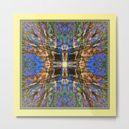 MADRONA TREE MANDALA Metal Print