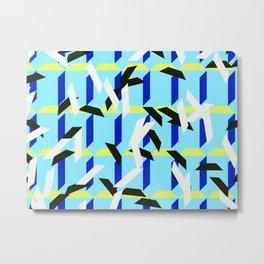 trapezoids grid pattern_skyblue Metal Print