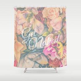 Get Naked Floral Shower Curtain