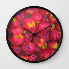 Apple on pixel Wall Clock