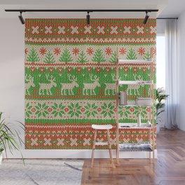 Ugly Christmas Sweater Digital Knit Pattern Wall Mural