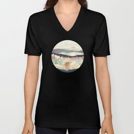Golden Spring Reflection Unisex V-Neck