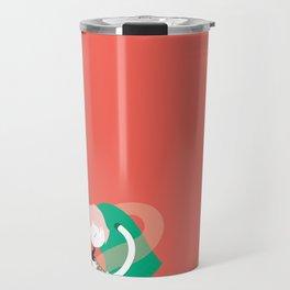 Make it up as you go along - orange Travel Mug