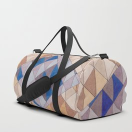 Triangle Pattern No. 13 Shifting Purple and Ochre Duffle Bag
