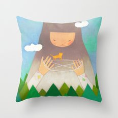 Forest giant Throw Pillow