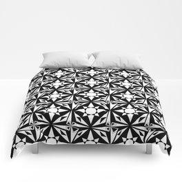 black and white symetric patterns 18- bw, mandala,geometric,rosace,harmony,star,symmetry Comforters