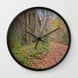 Fall Power House Trail Wall Clock