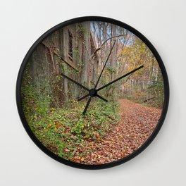Fall Power House Trail Wall Clock