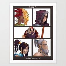 Diablo Days Art Print