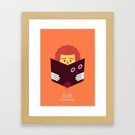 DIY / Do it yourself! Framed Art Print