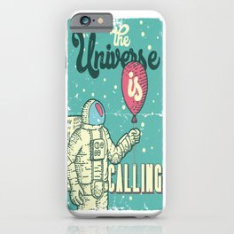 The Universe is calling - Baloon iPhone Case