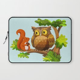 The Owl and The Squirrel Laptop Sleeve
