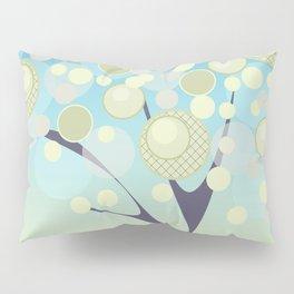 Good morning cartoon modern tree circles round dots Pillow Sham