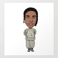 asap rocky Art Prints featuring Asap by Allyouwant