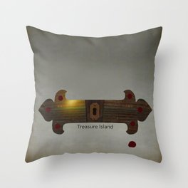 Treasure Island Minimal Poster Throw Pillow
