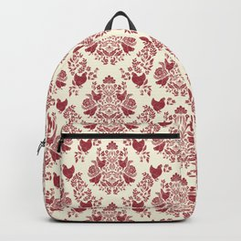 Damask Chickens & Flowers Backpack