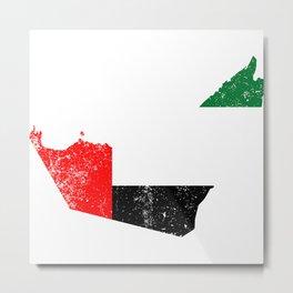 Distressed United Arab Emirates Map Metal Print