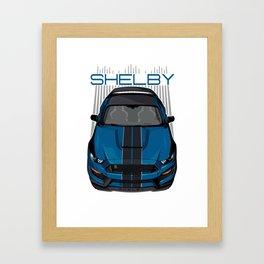 Mustang Shelby GT350 R - Blue Framed Art Print