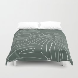 monstera Duvet Cover