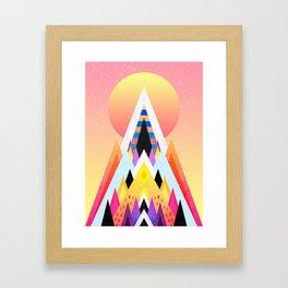 Bubblegum Mountain Framed Art Print