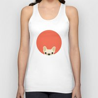 french bulldog Tank Tops featuring French Bulldog by Anne Was Here