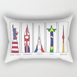 Big Cities In Color Rectangular Pillow