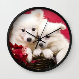 Puppies from the North Pole Wall Clock